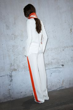 Celine resort 2013 just the right touch of dayglo color to make all white sophisticated