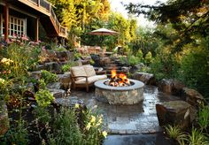 Patio Fire Pit Sophisticated Outdoor Fire Pit Designs Near The . Dish Outdoor Fire Pit Connollys Timber Flooring And . Garden Fire Pit, Fire Pit Backyard, Backyard Patio, Backyard Ideas, Patio Ideas, Sloped Backyard, Backyard Fireplace, Backyard Privacy, Outdoor Fireplaces