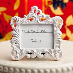 Mini Fotorahmen Barock Platzkartenhalter Platzkarten Hochzeit Mini Bilderrahmen