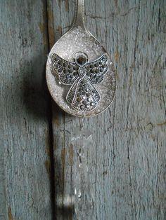 Silverware Christmas Ornament Vintage Silver by tawnystreasures