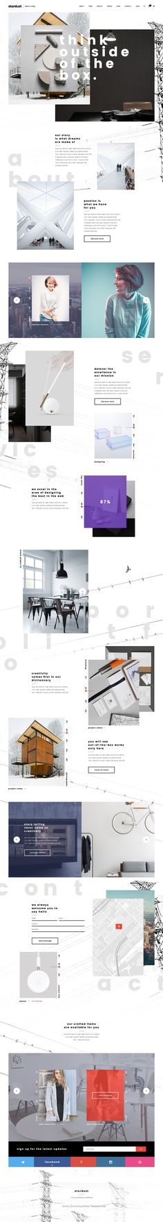 stardust is a Professionally designed Out-of-the-Box Creative PSD #Template for…