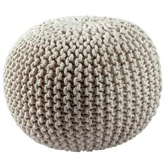 Cotton Rope 16-inch Off-white Pouf - 16023706 - Overstock.com Shopping - Great Deals on Throw Pillows