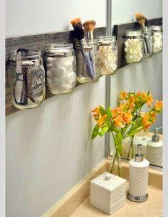 Organize sem Frescuras | Rafaela Oliveira » Arquivos » Reutilize potes de vidro para organizar, decorar e encantar!