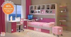 Mueble:  (Código A74-04) cama-cajonera-escritorio-biblioteca-sillas-silla-lampara-alfombra-estanteria-estantes-colgantes-revistero-muebles-infantiles-juveniles -  AGIOLETTO, Muebles Infantiles, Muebles Juveniles
