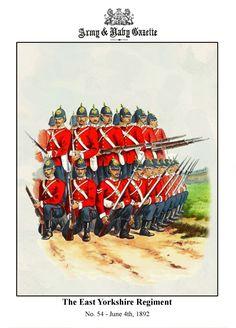 British; The East Yorkshire Regiment, c.1890 by R.Simkin.