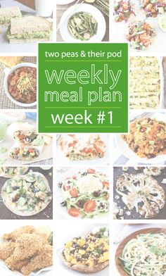 Weekly Meal Plan on twopeasandtheirpod.com Plan your dinner menu with these easy and delicious recipes!