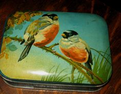 Vintage Bird Tin Box - Fill it with Goodies & Give it to someone for Solstice, Christmas, Hanukkah, or a Birthday Present