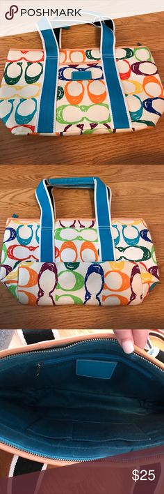 Small Coach Tote Barely worn cute tote! Perfect for everyday. Bags Totes