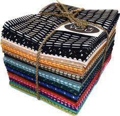 Amazon.com: Me + You Indah Honest 24 Fat Quarter Bundle Hoffman Fabrics MYFQ-639-Honest