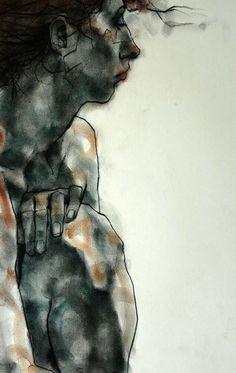 Phillip Dvorak/ charcoal and pastel on paper (20 min. pose)