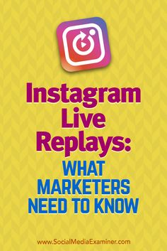 Instagram Live Repla