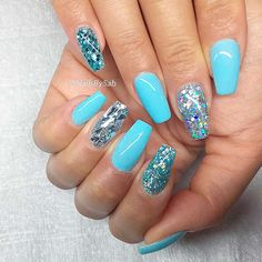 Hot Color Shades to Stay Fashionable with Ballerina Nails ❤ Sweet Baby Blue Ballerina Nails picture 2 ❤Ballerina nails seem to be not for everyone. Yet, once you learn about the perfect shades to combine with this shape you will definitely change your mind!https://naildesignsjournal.com/ballerina-nails-colors/  #nails #nailart #naildesign  #coffinnails