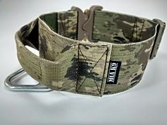 Tactical military dog collar with handle - A-TACS iX camo 50mm / 2 inch, COBRA buckle