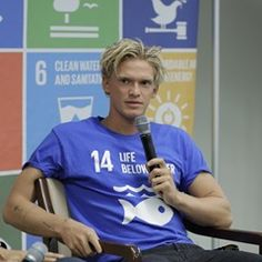 Cody Simpson Speaks at the SDG Media Zone for the Ocean Conference at UN Headquarters