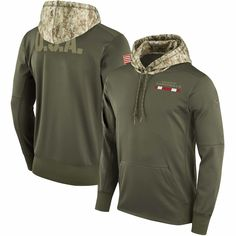 Women s Atlanta Falcons Nike Olive Salute to Service Performance Pullover  Hoodie 2bcfb504a1