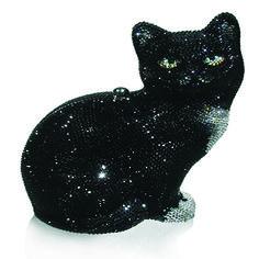 Judith Leiber Crystal Jinx Cat Minaudière