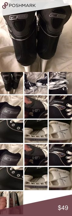 NIKE BAUER ONE05 TUUK FASTEEL hockey skates Y13 NIKE BAUER SUPREME ONE05 TUUK FASTEEL hockey skates Y13 New No Box! Never worn please have blades sharpened after purchase! Thanks for looking! Nike Shoes Water Shoes