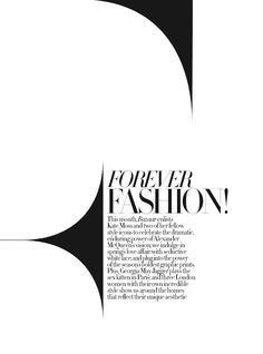 French Vogue - Fabien Baron. Like the playing with the typo.