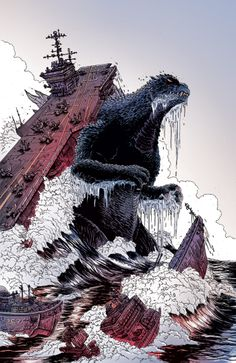 orcstain:    Godzilla: The Half-Century War issue 5 cover
