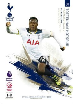 Wanyama Front page of first Programme of the Season (Us vs Crystal Palace) 2016…