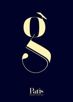 Paris | New Typeface by Moshik Nadav Typography by Moshik Nadav Typography, via Behance