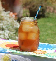 Lemonade ice cubes in sweet tea