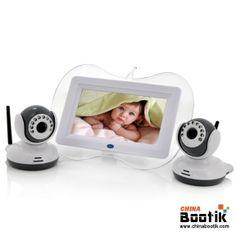 $154.18 for 7 Inch Baby Monitor + 2x Night Vision Camera Set - Two Way Intercom, Dual View #babymonitor