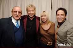 Clive Davis, Barry Manilow, Suzanne Somers, and Dave Koz (Photo by Stephen Lovekin/WireImage for J Records)