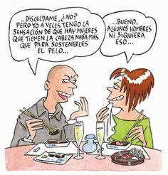Maitena Spanish Jokes, Mexican Humor, Mexican Funny, Frases Humor, Humor Grafico, Comedians, Comic Art, Graphic Art, Laughter