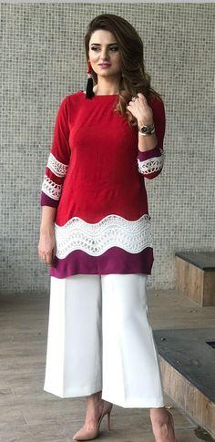 plus size clothing Stylish Dresses For Girls, Stylish Dress Designs, Dress Neck Designs, Designs For Dresses, Simple Dresses, Casual Dresses, Fashion Dresses, Simple Pakistani Dresses, Pakistani Fashion Casual
