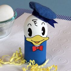 Disney Easter Crafts and Recipes - Look at this Donald Duck Easter Egg
