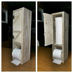 Wooden DIY Paper Holder Ideas For Toilet - Recycled Garden Ideas Woodworking Tutorials, Woodworking Basics, Woodworking Furniture, Wooden Toilet Paper Holder, Toilet Roll Holder, Diy Furniture Redo, Diy Garden Furniture, Pallet Furniture, Diy Wood Wall