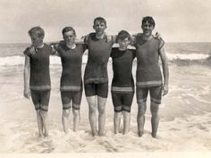 BEACHBOYS: Southern boys at Palm Beach, Florida. They are student cadets from the Kentucky Military Institute.