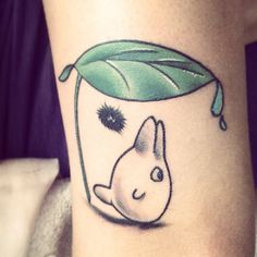 My new #tattoo if you don't know what a #totoro is look it up yo. #myneighbortotoro