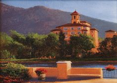 SOLD I Lakeview I 6x9 I Dix Baines I Fine Artist Original Oil Paintings I Mountains I The Broadmoor Hotel www.dixbaines.com