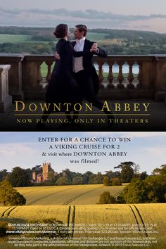 """You could win a Viking cruise for 2 & visit where """"Downton Abbey"""" was filmed! Prize Includes Business Class Air, a Viking Cruise for a Tour of the Filming Location for Downton Abbey and much more! Viking River, Filming Locations, Music Tv, Travel Goals, Downton Abbey, Travel Inspiration, Travel Ideas, New Movies, I Movie"""