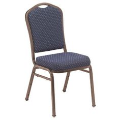 National Public Seating 9300 N Series Fabric Stacking Chair - Navy Pattern/Copper Frame by National Public Seating. $1099.99. 18-gauge square steel tubing for easy stacking. Available in 20- or 40-pack sets. Waterfall vinyl seat with 2-inch high-density foam. 12 plastic bumpers protect powder-coated finish. Concealed double back for refined look. For fabulous events indoors or out, the National Public Seating 9300 N Services Fabric Stacking Chair - Navy Pattern/Copper Frame is ...