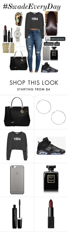 """""""Untitled #65"""" by curlss-wavyy-sexy on Polyvore featuring MICHAEL Michael Kors, MANGO, NIKE, Native Union, Victoria's Secret, Chanel, Marc Jacobs and NARS Cosmetics"""