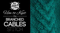 How to Knit the Branched Cable Stitch/ This cable pattern creates a panel of twisted stitches that resemble a row of tree branches. It is great as an accent on sweater sleeves, blankets, and scarves./reversible