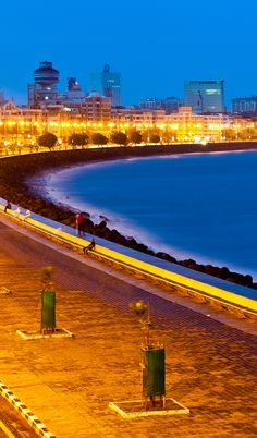 Marine Drive, #Mumbai, India #TravelToIndia | #Bombay. I remember looking down on Marine Drive from the Hanging Gardens where I was walking with my mother in l969.