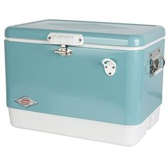 I just used this last weekend  Coleman 54 quart Vintage Steel Belted Cooler, Turquoise follow this link click here http://bridgerguide.com/coleman-54-quart-vintage-steel-belted-cooler-turquoise/ for much more detail about it. Thanks and please repin if you like it. :)