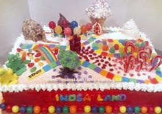 Homemade Candyland Game Cake: I made this Candyland Game Cake for my daughter's friend from school.  She was celebrating her fifth birthday and let's face it what five year old doesn't