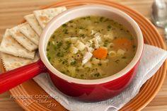 Pressure Cooker Chicken Noodle Soup | PressureCookingToday.com