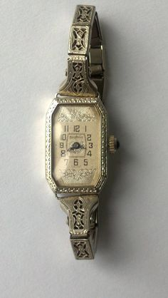 Art Deco SWISS 18K Solid Windsor Ladies Watch by KaraJanelDickey, $599.99
