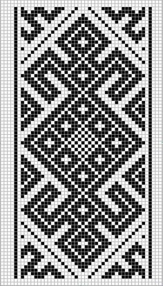 This Pin was discovered by Hel Tapestry Crochet Patterns, Crochet Motifs, Bead Loom Patterns, Weaving Patterns, Mosaic Patterns, Inkle Weaving, Inkle Loom, Tablet Weaving, Knitting Charts