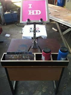Homemade screenprinting press
