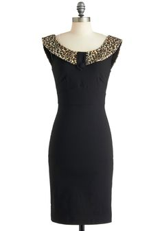 Luxe Be a Leopard Dress - Black, Brown, Animal Print, Sheath / Shift, Sleeveless, Cocktail, Long, Tan / Cream