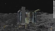 Philae touches down on the surface of a comet
