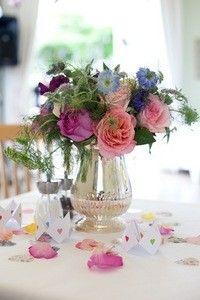 Vintage vases and simple flowers