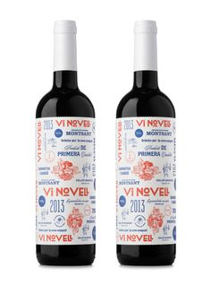 Label for wine Vi Novell 2013 designed by Atipus.